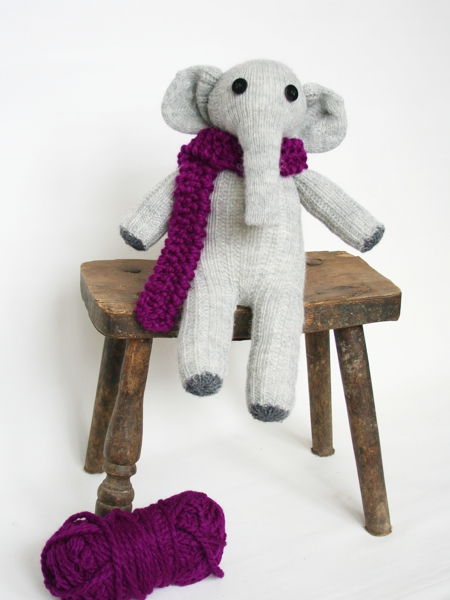 Anleitung für einen Socken Elefanten DIY