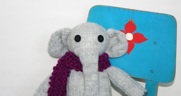 DIY Anleitung Sockentier Elefant Elly