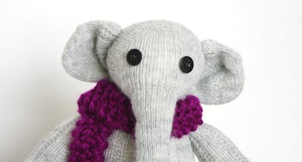 Sockentier nähen Elefant Elly