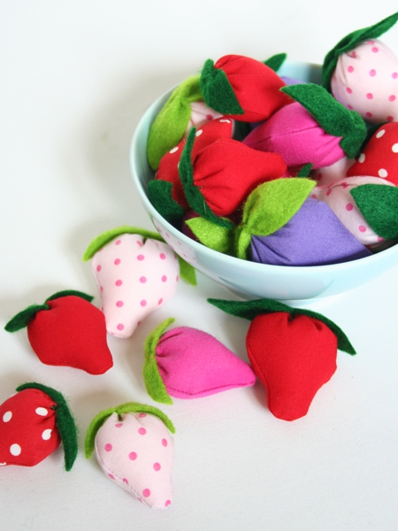 Erdbeeren selber nähen
