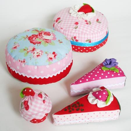 Kuchen und Torten aus legger Stoff