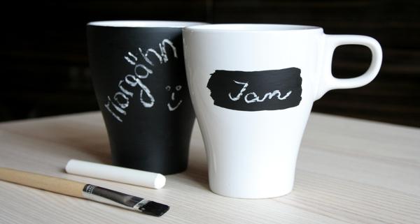 Tasse mit Tafellack lackieren und beschriften - individuelles Geschenk