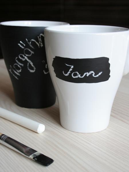 individuelle Tasse mit Tafellack