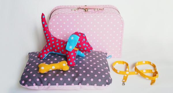 Hundeschlafplatz im Koffer