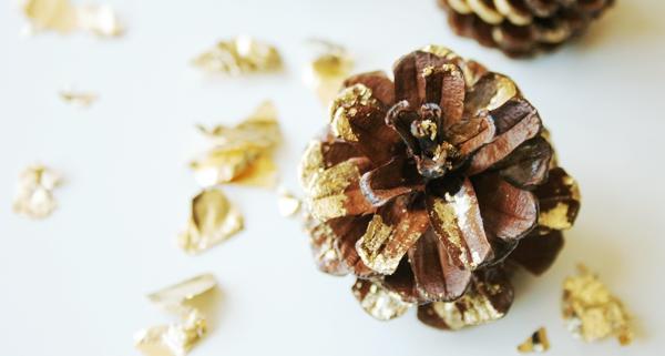 Mit Schlagmetall selbst vergolden - goldener Herbst