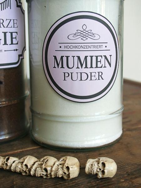 Mumienpuder - Zucker oder Mehl