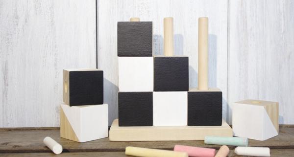 Holzwürfelspiel upcyceln