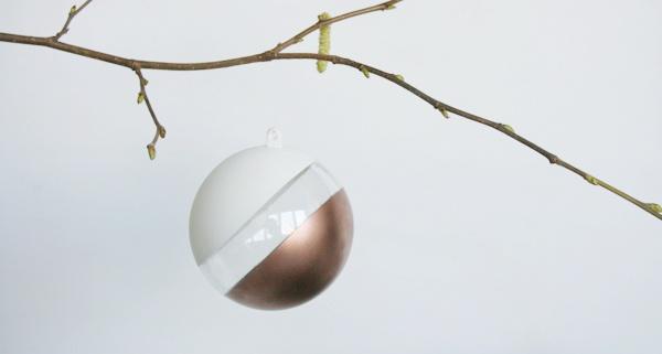 Acrylkugel lackiert - Kupfer - Weiß