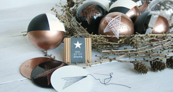 Stil all re weihnachtskugel diy kit sternschnuppen - Weihnachtskugeln selbst gestalten ...