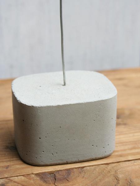 Joghurtbecher als Betonform