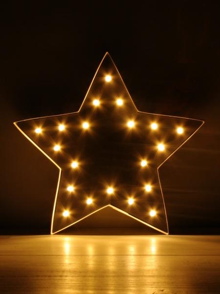 Lichtstern aus Pralinenschachtel