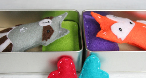 Schnittmuster Fuchs und Waschbär