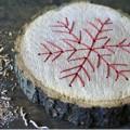 Weihnachtsbaumanhänger mit Fadengrafik
